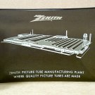Zenith Picture Tube Manufacturing Plant Glass Advertising Tray