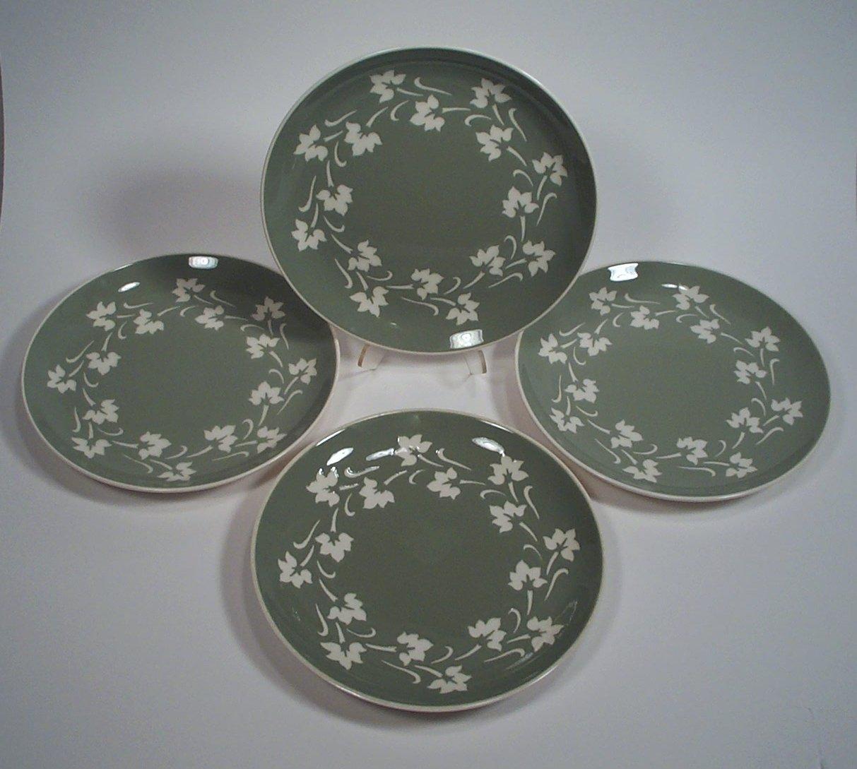 "Harkerware Ivy Wreath Salad Plates Set of 4 by Harker 7 3/4"""