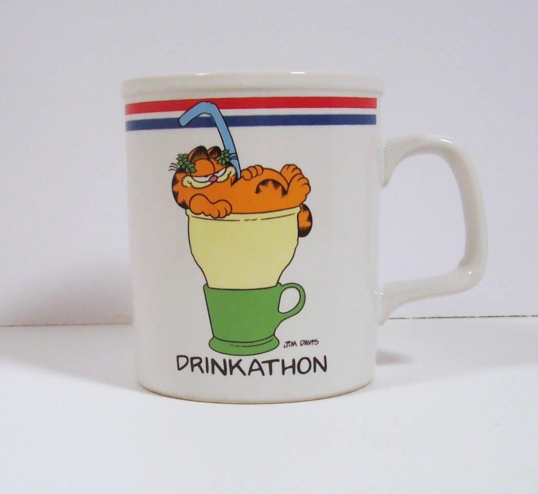 Garfield Drinkathon Mug - The Games Cats Play Jim Davis Enesco Vintage 1978