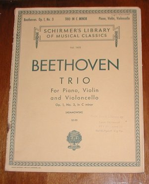 Beethoven Piano Trio Op1 #3 in C minor