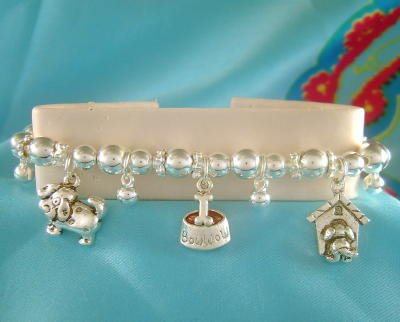 Puppy Love Dog Charm Bracelet Dogs Puppies