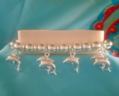 Diving Dolphins Dolphin Charm Bracelet