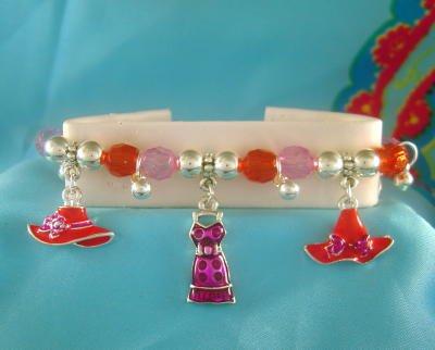 RED HAT SOCIETY Stretchy Charm Bracelet
