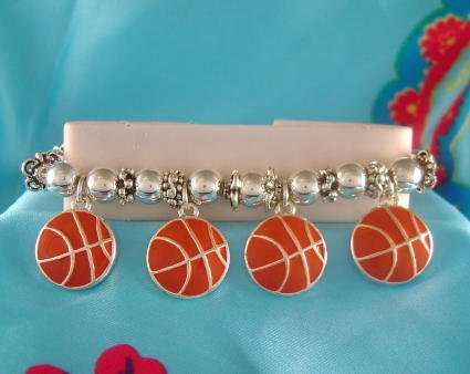 Basketball Sports Theme Stretchy Charm Bracelet - Basketball Moms