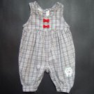 CARTERS Gray and White Plaid Jumper Infant Boys 0-3 Months 3M
