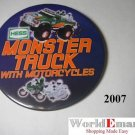 2007 Hess Monster Truck with Motorcycles PIN BUTTON