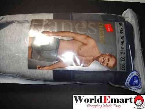 HANES 2 Solid color classic fit boxer briefs XL