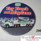 2002 Hess Toy Truck & Airplane PIN  BUTTON collectable