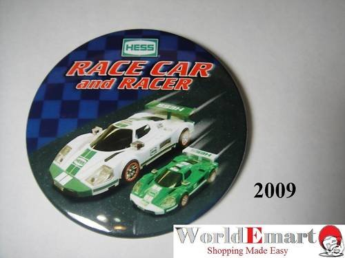 2009 Hess Race Car and Racer PIN BUTTON collectable