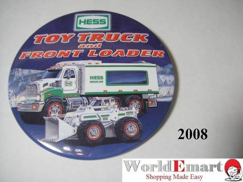 2008 Hess Toy Truck and Front Loader PIN BUTTON collec