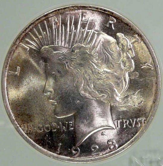 1923 Peace $1 NTC MS66
