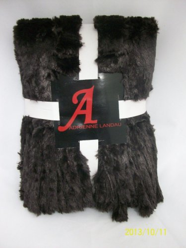 A by Adrienne Landau Faux Mink Readers Wrap with Tails-Brown