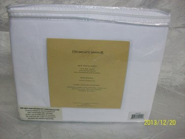 Highgate Manor Embroidered 100% Microfiber 4-piece Sheet Set- New - White -