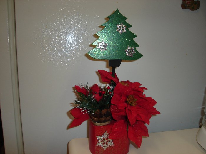 Christmas Tree Arrangement on 4x4 Block