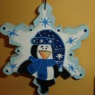 Penguin Snowflake Ornament