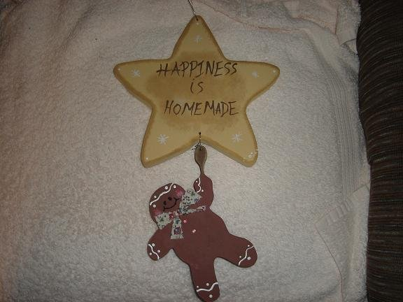 Gingerbread Man hanging from star