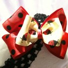 Yellow Ladybug Hair bow