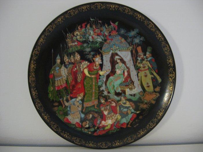"Vleshko Russian Legends Plate ""The Golden Cockerel"""