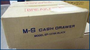 M-S Cash Drawer EP-127NK-B 18.8X15.2X3.94 NEW SEALED!