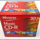 Memorex 40x CD-R Media 80 minutes 700MB 30 pack NEW