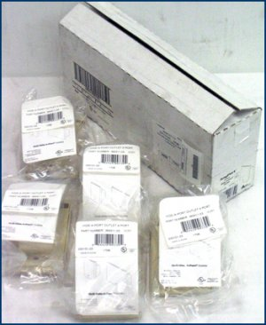5-Pack OnQ Hide a Port Outlet 4 socket 364311-03 NEW!