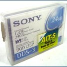 Sony DDS3 DAT Tape Cartridge DGD125P//A4 NEW