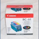 Canon BC-61 Tri Color Ink Cartridge 0918A008 NEW!!