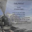 Name Poem Personalized Train Background Paper Free Shipping