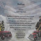 Name Poem Personalized Fireman Background paper Free Shipping