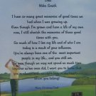 Dad Poem Personalized Golf Background Paper Free Shipping