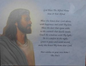 Bless This House Poem Personalized Jesus Background Paper Free Shipping