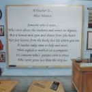 Teacher Poem Personalized Classroom Background Paper Free Shipping