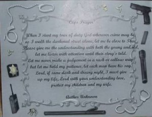 Police Poem Personalized On Police Gear Background Paper Free Shipping