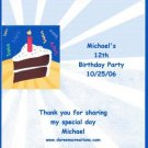 Birthday Cake Personalized Hershey 1.55 oz Wrappers Free Shipping
