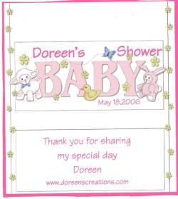 Baby Shower Personalized Hersey 1.55 oz Candy Wrappers Free Shipping