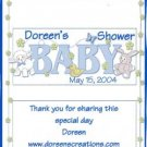 Baby Shower Personalized Hersehy 1.55 oz Candy Wrapper Free Shipping
