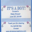 Boy Baby Shower Personalized Hershey 1.55 oz Candy Wrapper Free Shipping
