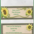 Personalized Poppy Flower Birthday Hersey 1.55 oz Candy Wrapper Free Shipping