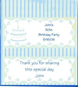 Birthday Cake Personalized Hershey 1.55 oz Candy Wrapper Free Shipping