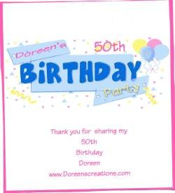 50Th Birthday Personalized Hershey Candy Wrapper Free Shipping