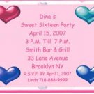 Sweet Sixteen Personalized Invitations Free Shipping