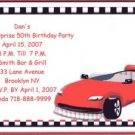 Race Car Birthday Personalized Invitation Free Shipping