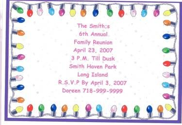 Lights Party Invitations Personalized Free Shipping