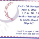 Baseball Party Invitation Personalized Free Shipping