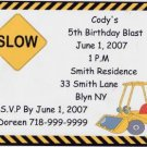 Construction Party Invitation Personalized Free Shipping