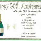 Anniversay Party Invitation Personalized