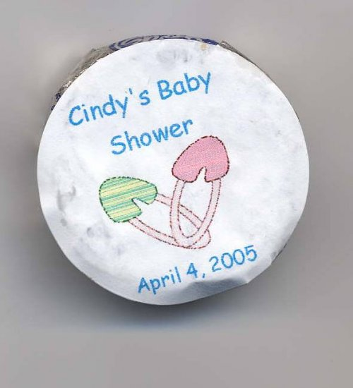 20 Baby Shower  Snack Size Peppermint Pattie Labels   Personalized Free Shipping