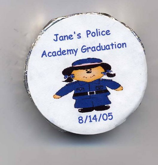 20 Snack Size Peppermint Patties  Personalized Female Police Acacademy Graduation Free Shipping