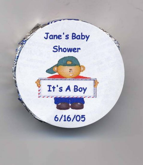 20 Baby Shower Snack Size Peppermint Patties Labels Personalized Free Shipping