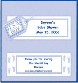 BABY SHOWER PERSONALIZED HERSHEY 1.55 OZ WRAPPER FREE SHIPPING